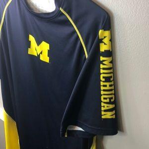 University of Michigan XL Addidas Climalite Shirt